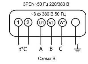 схема подключения 380