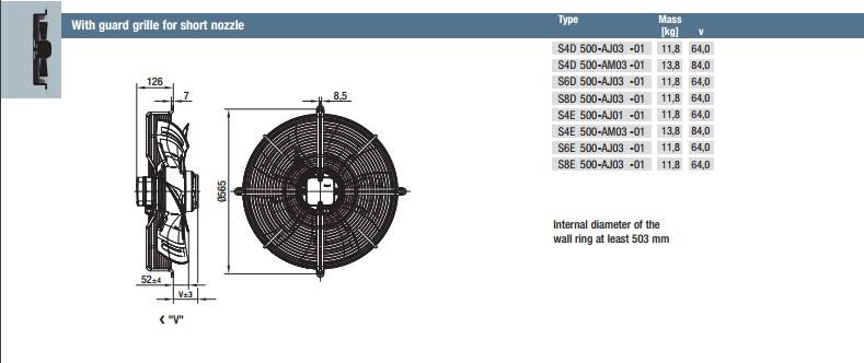 S4E500-AJ01-01 габариты