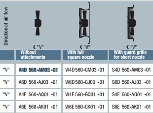 A6D560-AJ03-01 технические данные таблица
