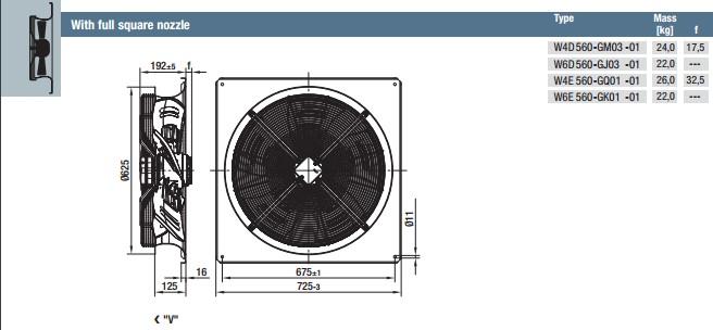 W6E560-GK01-01 габариты