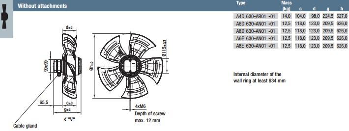 A4D630-AR01-01 габариты
