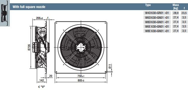 W8E630-GN01-01 габариты