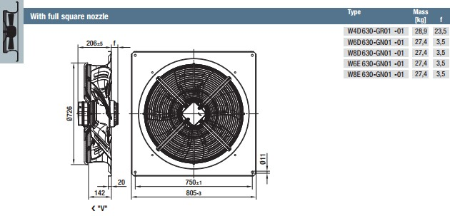 W4D630-GR01-01 габариты