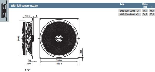 W4D630-GH01-01 габариты