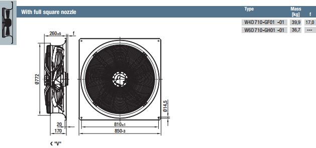 W4D710-GF01-01 габариты