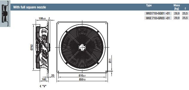 W6E710-GR03-01 габариты