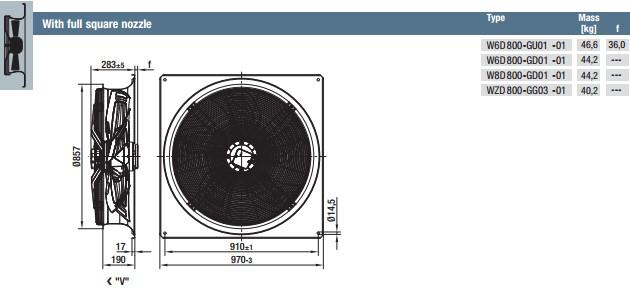 W6D800-GU01-01 габариты