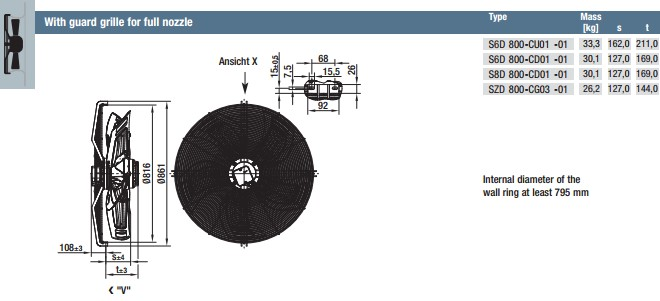 S6D800-CD01-01 габариты