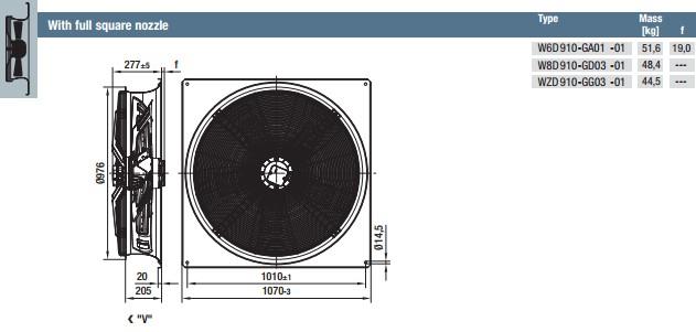 WZD910-GG03-01 габариты