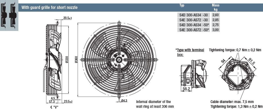 S4D300-AS34-50 габаритные размеры