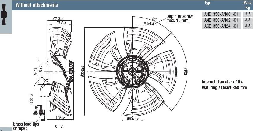 A4D350-AN08-01 габаритные размеры