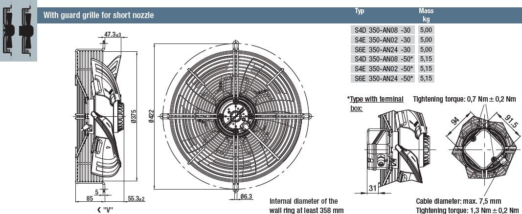 S6E350-AN24-50 габаритные размеры
