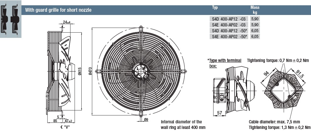 S4E400-AP02-03 габаритные размеры