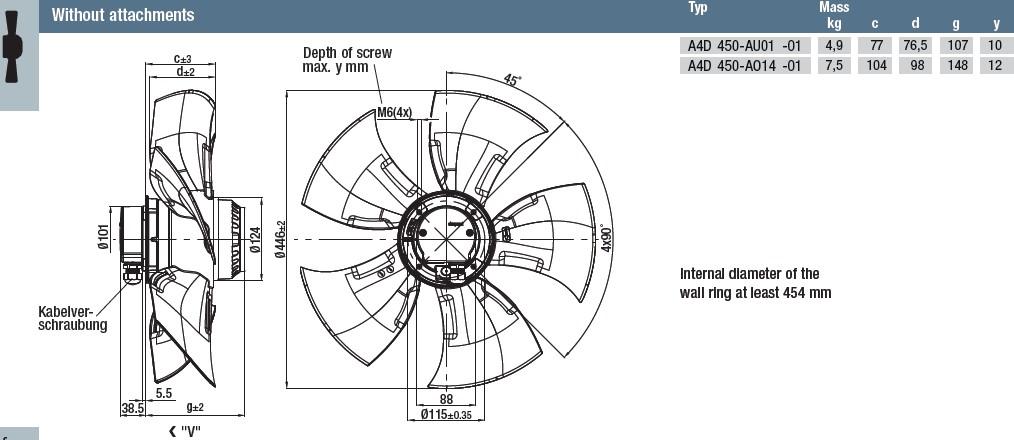 A4D450-AO14-01 габаритные размеры