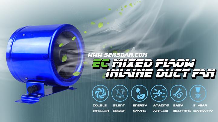 Энергосберегающий канальный вентилятор