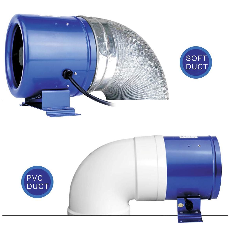 монтаж энергосберегающего круглого канального вентилятора SE-A150