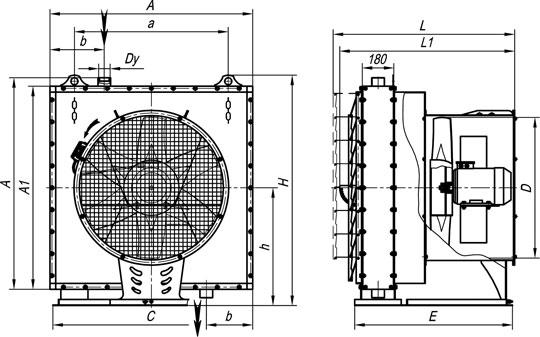 отопительный агрегат на основе КПСк