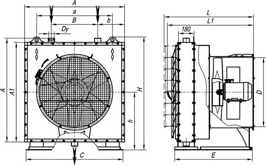 отопительный агрегат на базе паровых калориферов