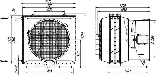воздушно-отопительный агрегат АО2-50 на базе КСК 3-12