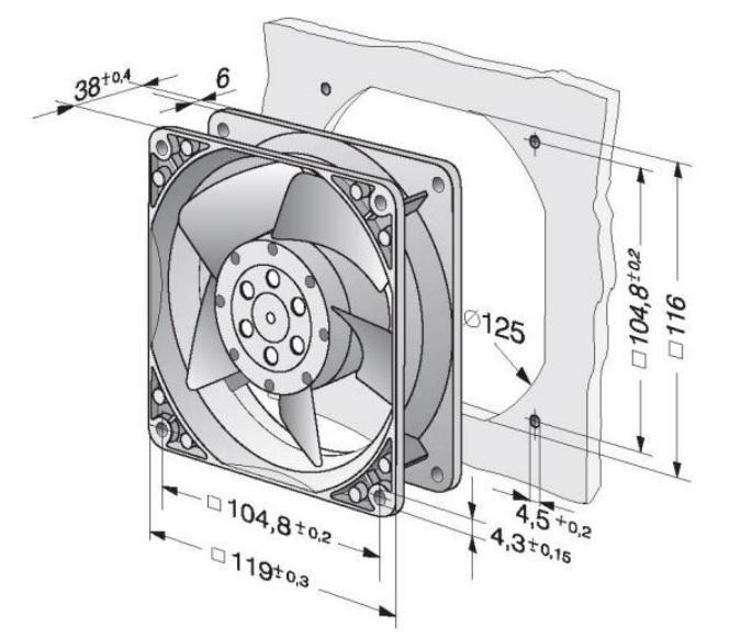 размеры вентилятора 120 мм ebmpapst