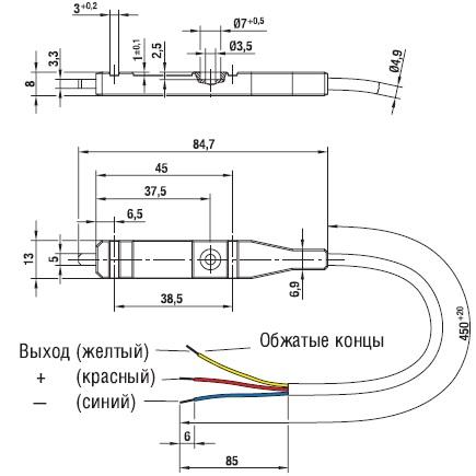 размеры регулятора температурного 50002-1-0174