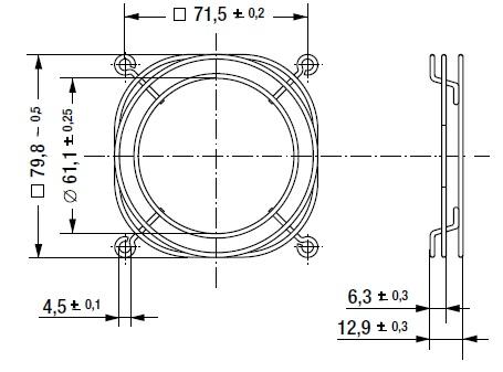 LZ32-7 защитная решетка 80х80 мм ebmpapst размеры