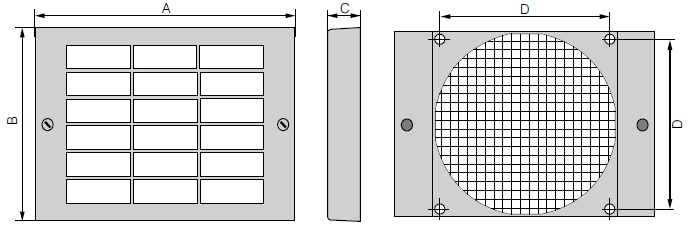 FF92 ebmpapst защитный фильтр вентилятора 92х92 чертеж