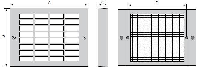FF172 ebmpapst защитный фильтр вентилятора 172 чертеж