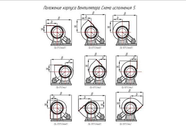 ВР 280-46 (ВЦ 14-46) исполнение 5 положение корпуса