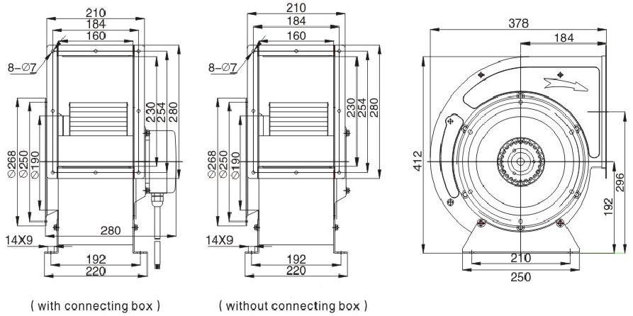 Промышленный вентилятор улитка ventstal 2300 чертеж