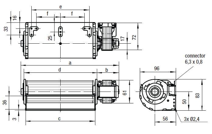 QLZ06/1800-2518 ebmpapst вентилятор чертеж