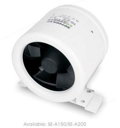 SE-A150 энергосберегающий круглый канальный вентилятор (1 фазный)