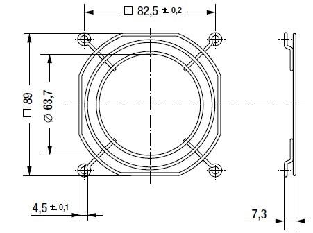LZ23-6 защитная решетка 92х92 мм ebmpapst
