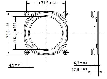 LZ32-7 защитная решетка 80х80 мм ebmpapst