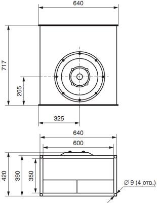 Вентилятор канальный прямоугольный ВКП 60-35