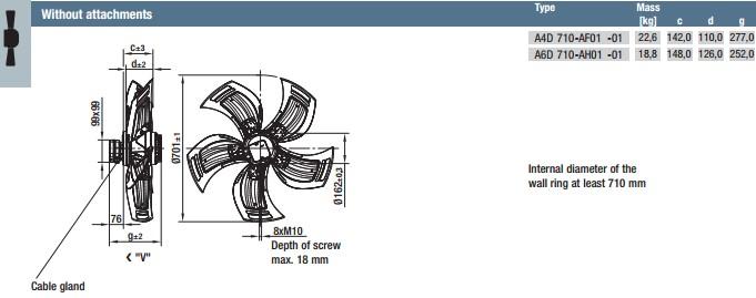 A4D710-AF01-01 габариты