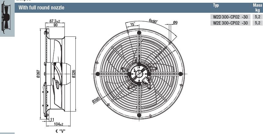 W2D300-CP02-30 габаритные размеры