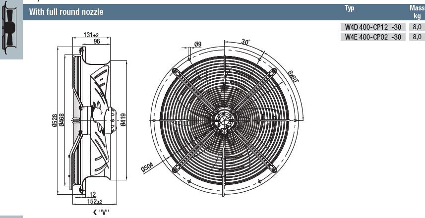 W4E400-CP02-30 габаритные размеры