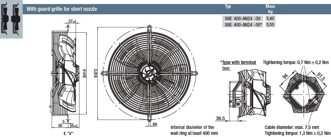 S6E400-AN24-50 габаритные размеры