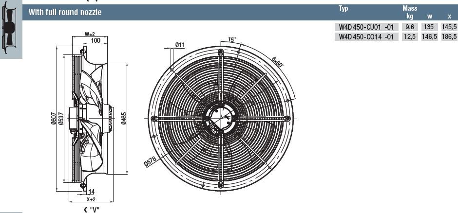 W4D450-CO14-01 габаритные размеры