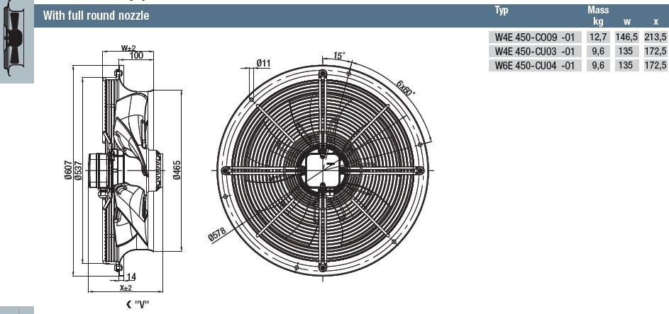 S4E450-AU03-01 габаритные размеры