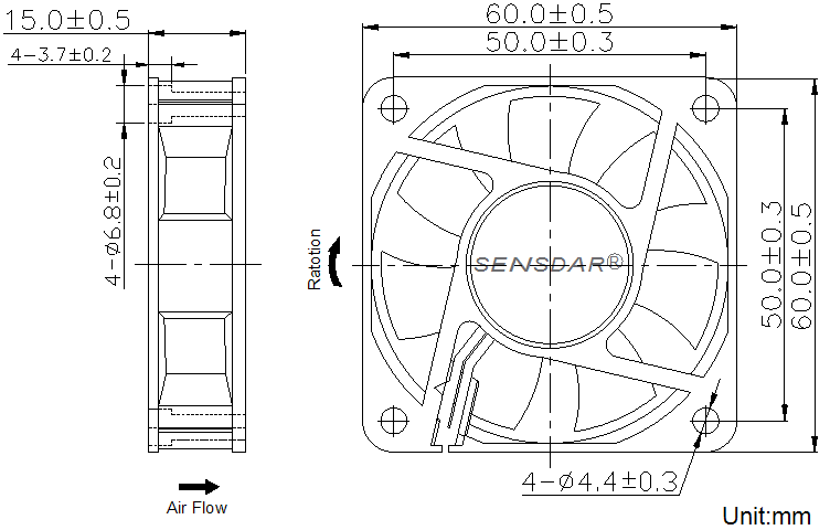 SD6015H2S габаритные размеры