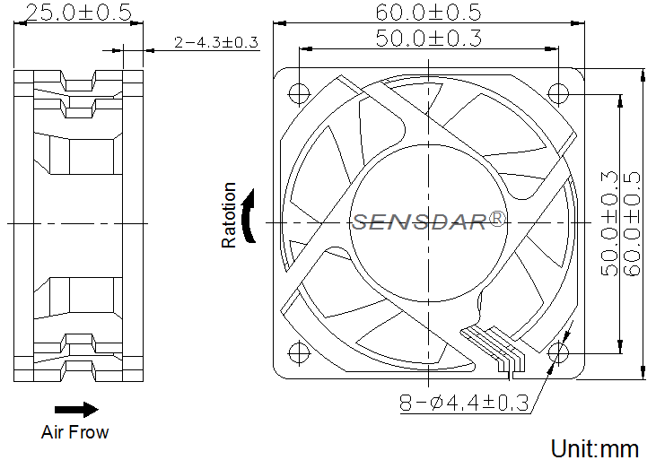 SD6025D2B габаритные размеры