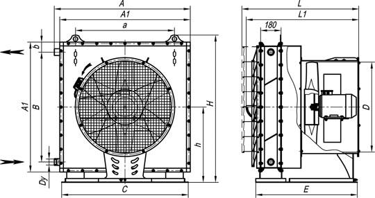 АО2-6,3 отопительные агрегат на основе КсК
