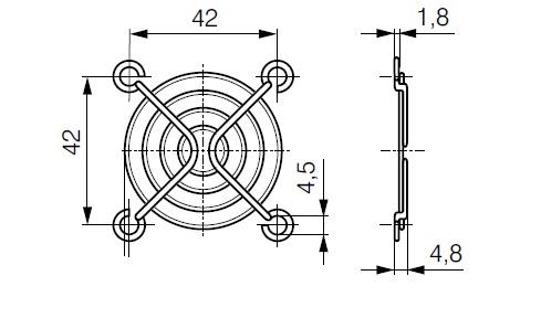 LZ31 ebmpapst решетка чертеж