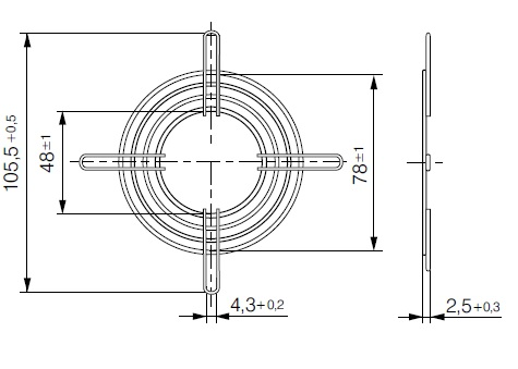 LZ22-2 защитная решетка ebmpapst чертеж