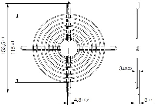 LZ30 ebmpapst защитная решетка 120 чертеж