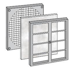 монтаж фильтра вентилятора FF80
