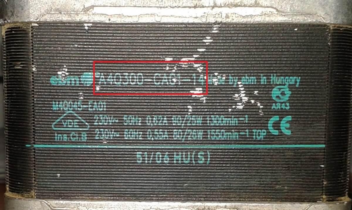 артикул вентилятора ebmpapst Q мотор