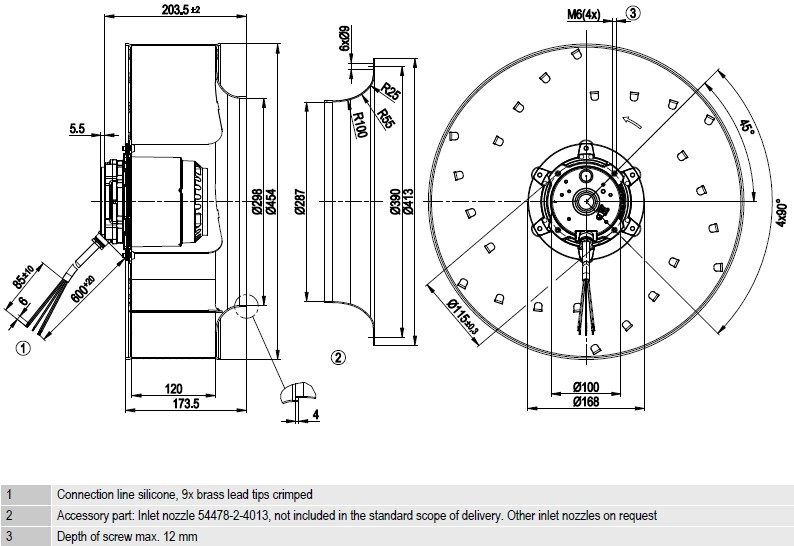 R4D450-AD22-06 ebmpapst чертеж